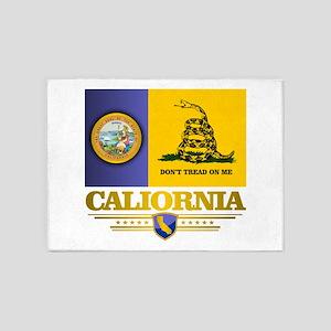 California Gadsden Flag 5'x7'Area Rug