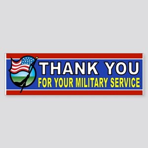 MILITARY BUMPER STICKER Bumper Sticker