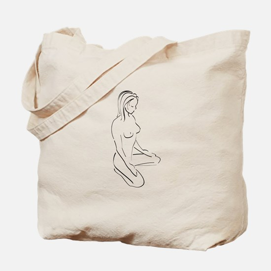 Kneeling Woman Tote Bag
