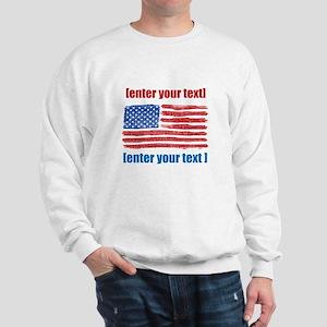 US flag artistic Sweatshirt