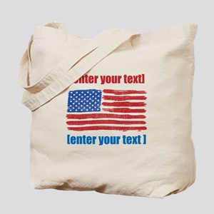 US flag artistic Tote Bag