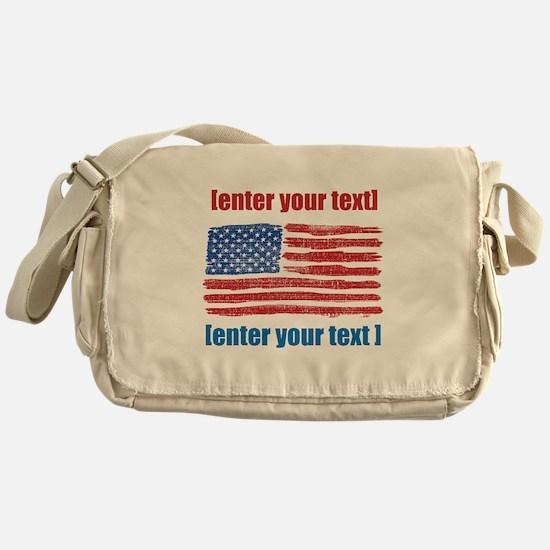 US flag artistic Messenger Bag