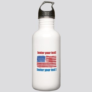 US flag artistic Stainless Water Bottle 1.0L