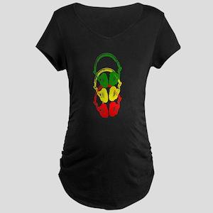 Rastafarian Color Stencil Style Headphones Materni