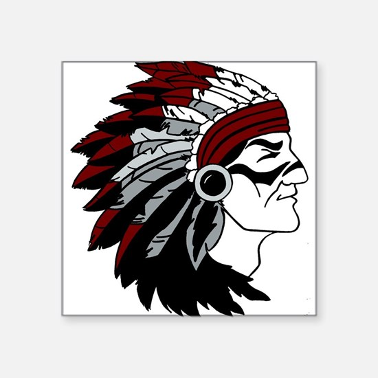 Native American Chief with Red Headdress Sticker