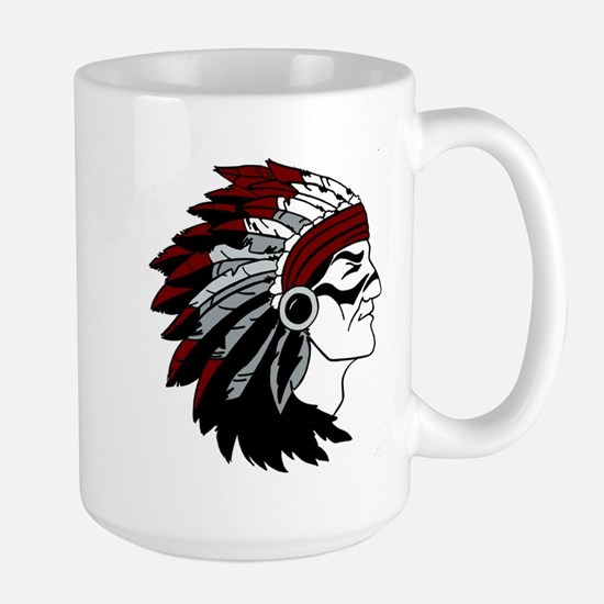 Native American Chief with Red Headdress Mug