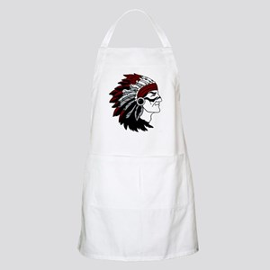 Native American Chief with Red Headdress Apron