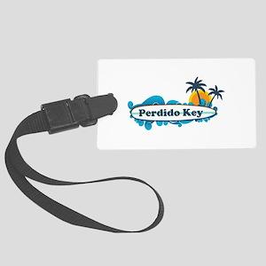 Perdido Key FL - Surf Design. Large Luggage Tag