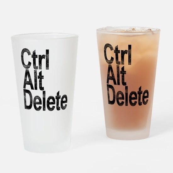 Control Alt Delete Drinking Glass