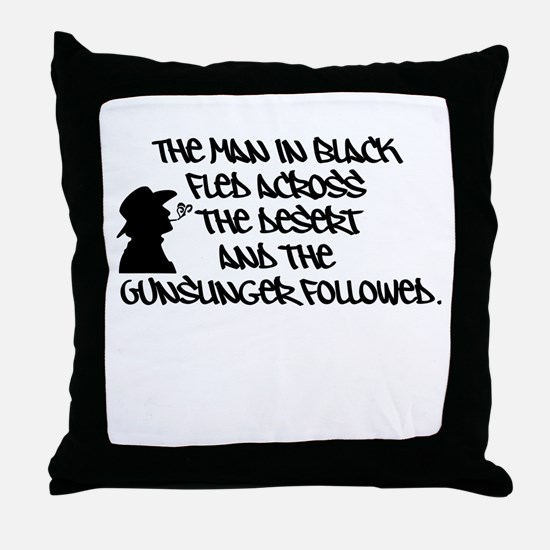 The Man in Black... Throw Pillow