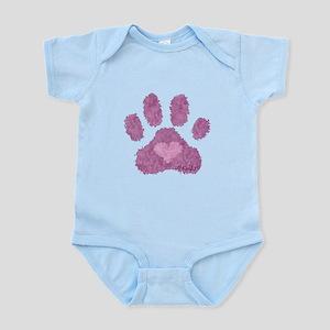 Pink Posh Paw Infant Bodysuit