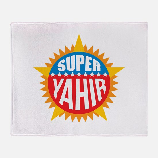 Super Yahir Throw Blanket