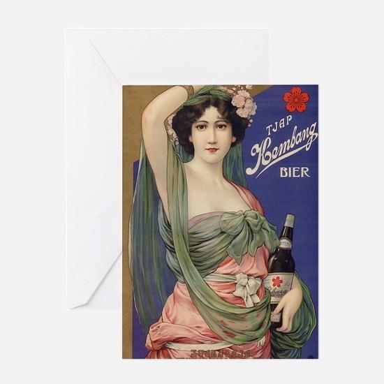 Japan, Beer, Vintage Poster Greeting Card