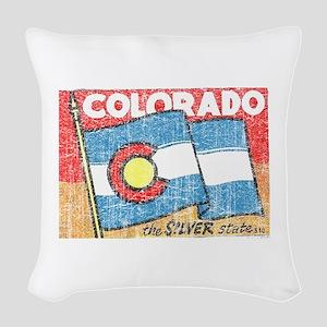 Vintage Colorado Woven Throw Pillow
