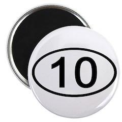 Number 10 Oval Magnet