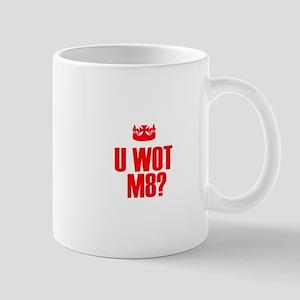 U wot m8 Red Small Mug