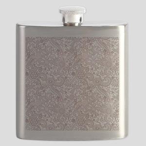 Careful Embroidery Flask