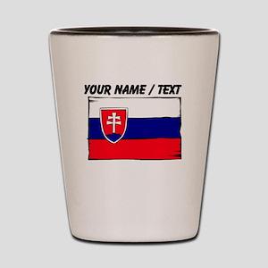 Custom Slovakia Flag Shot Glass