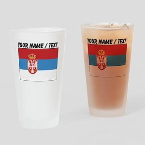 Custom Serbia Flag Drinking Glass