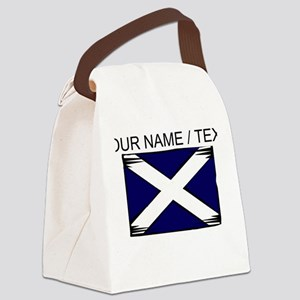 Custom Scotland Flag Canvas Lunch Bag
