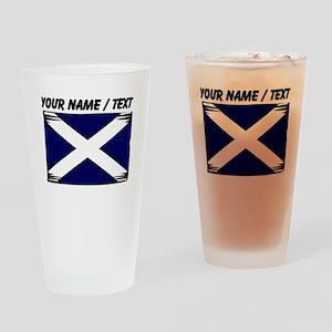 Custom Scotland Flag Drinking Glass