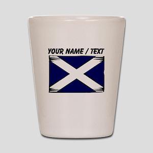 Custom Scotland Flag Shot Glass