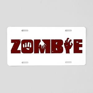 Zombie Aluminum License Plate