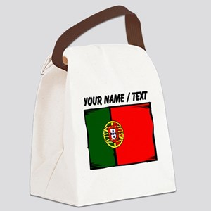 Custom Portugal Flag Canvas Lunch Bag