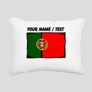 Custom Portugal Flag Rectangular Canvas Pillow