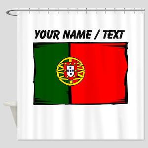 Custom Portugal Flag Shower Curtain