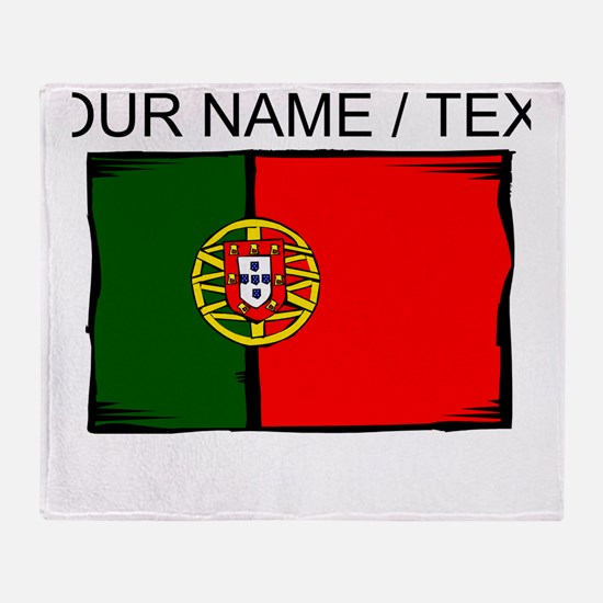 Custom Portugal Flag Throw Blanket