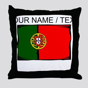 Custom Portugal Flag Throw Pillow