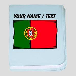 Custom Portugal Flag baby blanket