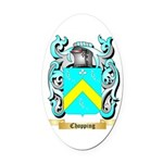 Chopping Oval Car Magnet