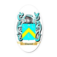 Chopinet Oval Car Magnet