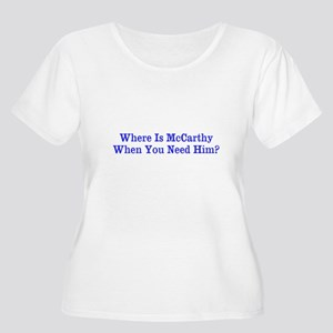 Where Is McCarthy Plus Size T-Shirt