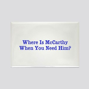 Where Is McCarthy Rectangle Magnet