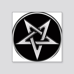 Inverted Silver Pentacle Sticker