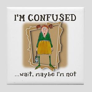 Im Confused Tile Coaster