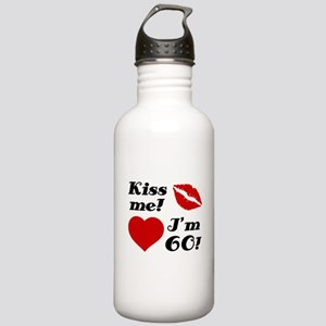Kiss Me I'm 60 Stainless Water Bottle 1.0L