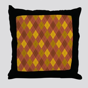 Harvest Colors Argyle Throw Pillow
