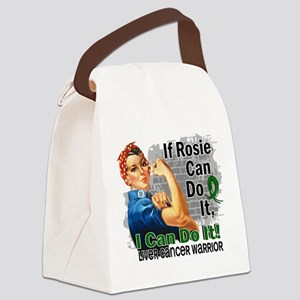 If Rosie Can Do It Liver Cancer Canvas Lunch Bag
