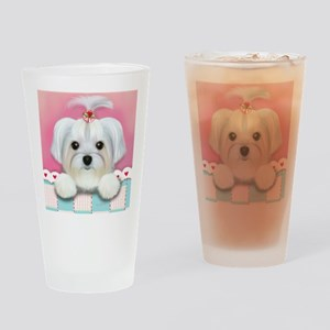 Morkie Shelly Drinking Glass