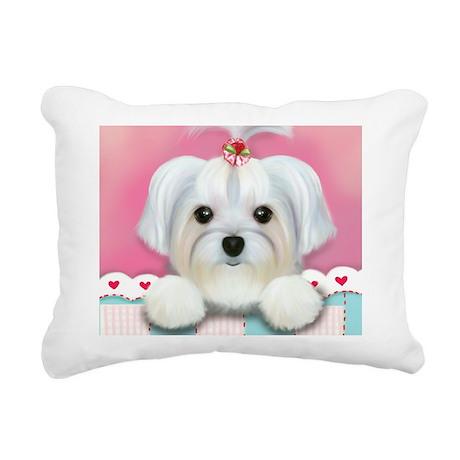 Morkie Shelly Rectangular Canvas Pillow