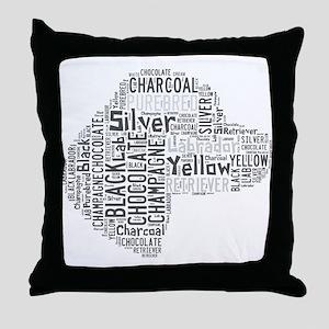 Love Like a Labrador Throw Pillow