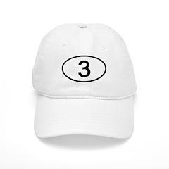 Number 3 Oval Baseball Cap