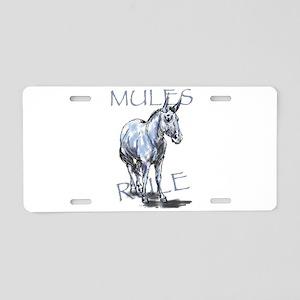 Mules Rule Aluminum License Plate
