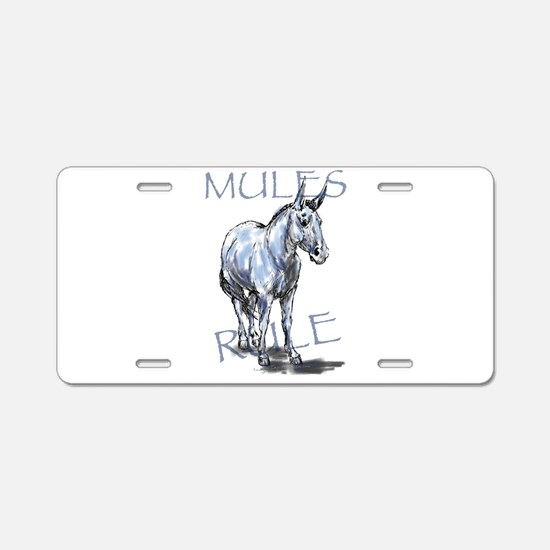 Mules Rule Aluminum License Plate