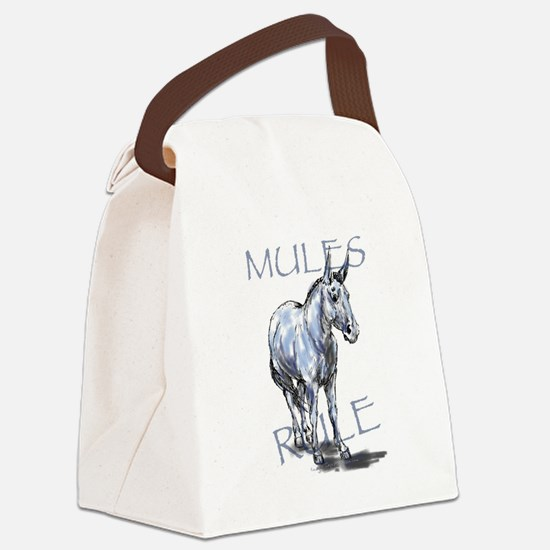 Mules Rule Canvas Lunch Bag