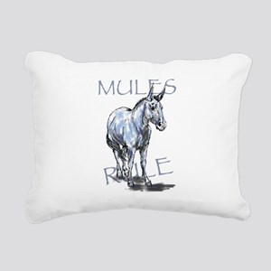 Mules Rule Rectangular Canvas Pillow